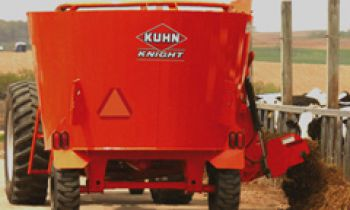 Kuhn TMR Mixers For Making and Delivering Feed and Bedding